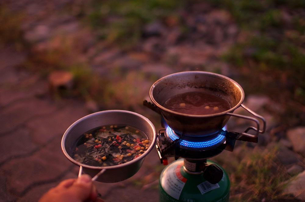 シェラカップ 炊飯
